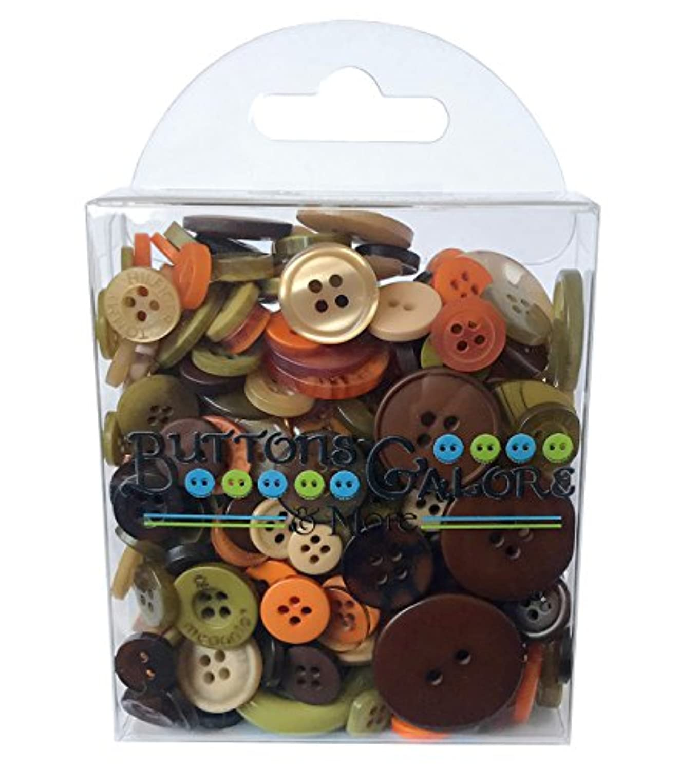 Buttons Galore Hand-Dyed Button, 3.5-Ounce, Brown/Tan/Sage Green/Burnt Orange