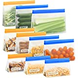 Reusable Storage Bags,Hobest 4 Stand Up Sandwich Bags, 3 BPA Free Snack...