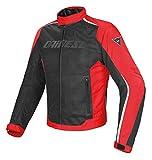 Dainese 1654575_678_50 Hydra Flux D-Dry Jacket Giacca Moto Nero/Rosso/Bianco, 50 EU