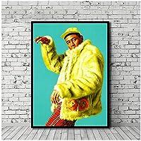 Dubdubd タイラークリエーターミュージックラッパースターポスターキャンバス絵画壁アート写真リビングルームの家の装飾ギフト-60X80Cmフレームなし1個