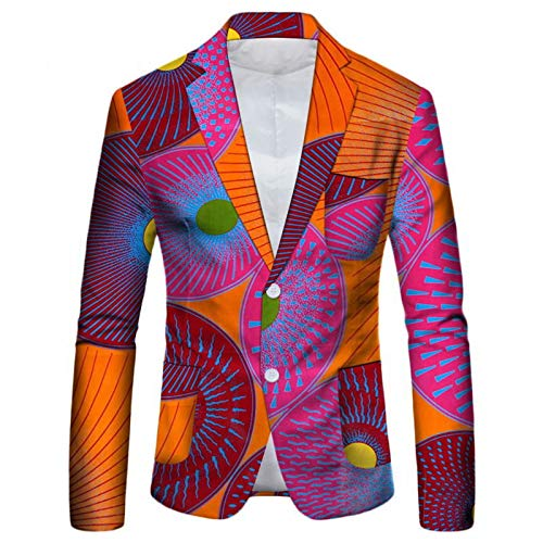 아이오오오이 아프리카 멘스 슈트 재킷 플로랄 인쇄 두 버튼 캐주얼 블레이저 스포츠 코트