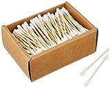 Varillas de algodón de bambú vegano y sostenible, para niños y adultos, biodegradables...