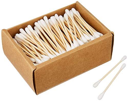 Varillas de algodón de bambú vegano y sostenible, para niños y adultos, biodegradables
