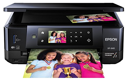 Epson XP-640 Wireless Color Photo Printer 2.7, Amazon Dash Replenishment Ready