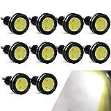 10PCS Alto Poder 23mm 9W Luz de ojo de águila Luz LED Para Automóvil Moto Luz Diurna Eagle Eye DRL Luces de Marcado (Blanco)