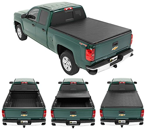 Bestop 1921201 EZ-Roll Soft Tonneau Cover for Chevy/GMC 07-13 Silverado/Sierra Crew Cab, Won't Fit Classic Body Style, Without Bed Management System, 5.8' Bed
