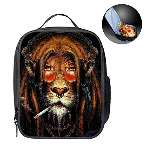 Best Gift for Kids-Lunch Bag, Children Cooler & Warmer Tote Bag Students Waterproof Insulated Lunch Carry Bag Leakproof Food Box Bag for Camping Travel,A