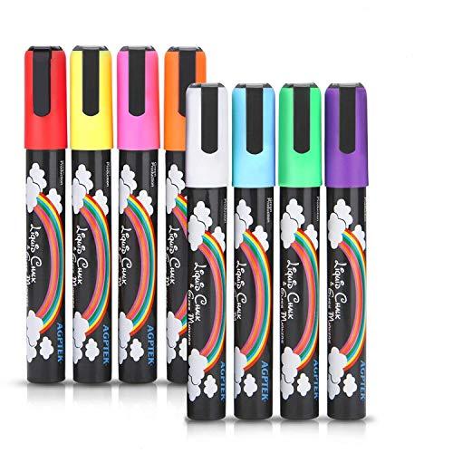 AGPtek Fluorescent Marker Pen 8 Colors/set for LED Writing Menu Board
