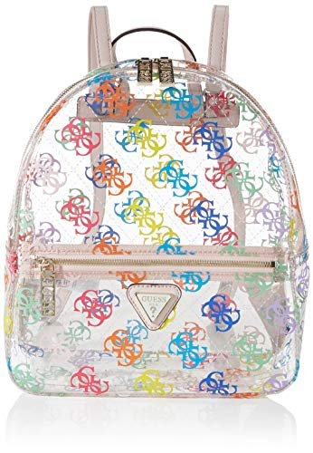 Guess Tash Backpack, BAGS FLAP para Mujer, Arco iris, Talla única