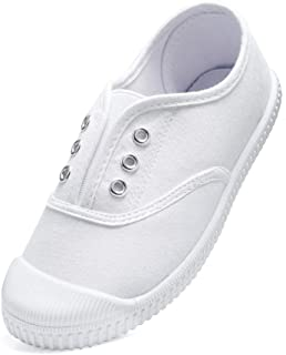 Toddler Girls/Boys Shoes Kids Canvas Slip on Sneakers ComfortableSkin-Friendly Causal Running Tennis Shoes Outdoor/Indoor