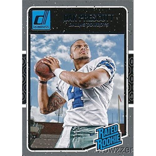 1b3cdf32958 Dak Prescott 2016 Donruss Rated Rookie  362 ROOKIE Card Shipped in Ultra  Pro Snap Card