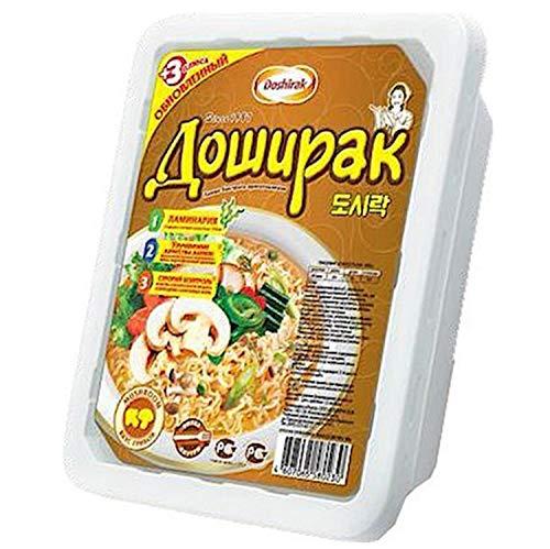 Doschirak Instant Nudelgericht mit Pilzeschmack 24er Pack (24 x 90 g) Nudelsuppe Pilze