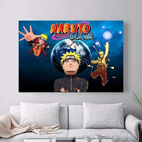 AJleil Puzzle 1000 Piezas Cuadro de decoración de Pintura de Anime de Naruto Puzzle 1000 Piezas Juego de Habilidad para Toda la Familia, Colorido Juego de ubicación.50x75cm(20x30inch)
