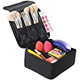 Cosmetic Organizer by Eliza Huntley - Makeup Case & Toiletry Bag for Women, Cosmetic Case, Black Makeup Organizer (Small)