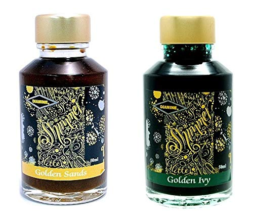 Diamine - 50ml Fountain Pen Ink 2 Pack - Golden Ivy & Golden Sands