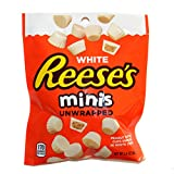 Hershey (1) Bag Reese's White Minis Unwrapped Peanut Butter Cups - White Creme - Holiday Candy - Net Wt. 2.4 oz