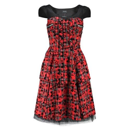 H & R London Abito Anchors, Bows & Stars Long Dress rosso rosso/nero 38/40