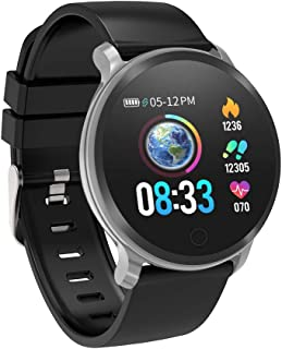 Fitness Tracker, reloj inteligente resistente al agua, rastreador de actividad con monitor de frecuencia cardíaca, monitor de sueño, podómetro de calorías, presión arterial, reloj inteligente para hombres, mujeres, niños, regalos