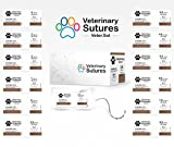 Veterinary Sutures Chromic Gut 4-0, 3/8 19mm Reverse Cutting...