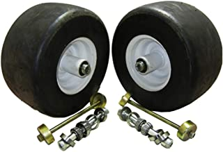 proven part 2 Pack 13X6.5X6 White No Flat Front Solid Tire Puncture Proof Replaces Exmark 103-0065 Includes Bearings Replaces 103-3051 - 1-633584 - 103-0063 - 126-5361 - 1-633585