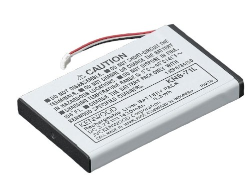 Kenwood Electronics KNB-71L Iones de Litio 1430mAh 3.7V batería Recargable - Batería/Pila Recargable (1430 mAh, 5,3 WH, Ión de Litio, 3,7 V, Blanco)