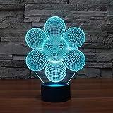 Tianyifengg Color 3D-LED-7-control Remoto-luz Nocturna-Luces abstractas ilusión de diseño Creativo para decoración de Tema de Sala de Oficina en casa
