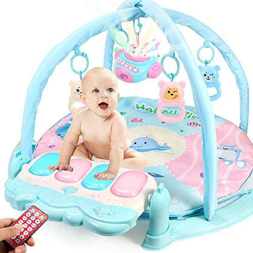 Best Prices! lijunjp Large Baby Play Gym, Baby Play Mat Lights and Melodies Explore Activity Gym, Foot Game Carpet Piano Fitness Rack with Microphone, Ideal for Baby Room