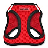 Best pet supplies Voyager Step-In Air Dog Harness - All Weather Mesh, Step In Vest Harness for Small and Medium Dogs - Red Base, XXS (Chest: 10.5 - 13' Fit Cats) (207-RDB-XXS)