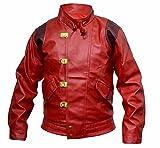 Classyak - Giacca in vera pelle Akira Kaneda da uomo, colore: Rosso Colore: rosso artificiale. S petto 96/101 cm