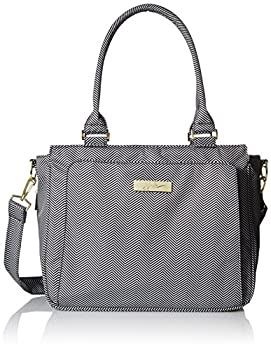 JuJuBe Be Classy Structured Multi-Functional Multi-Functional Diaper Bag/Purse Legacy Collection - The Queen of The Nile - Black/White Chevron