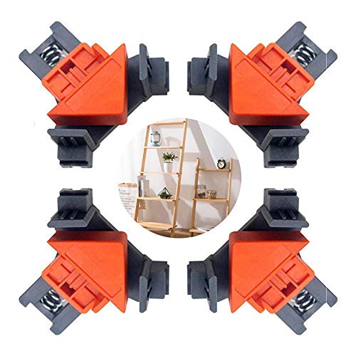 JFSING Corner Clamp, 90 Degrees Multi-Function Angle Clamps, Adjustable Swing Angle Clamp, for Woodworking, Photo Framing, Glass Holder 4 PCS