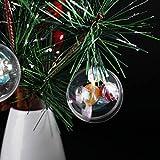 BESPORTBLE Bola de plástico acrílico transparente rellenable para decoración del hogar
