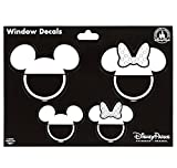 Theme Park Merchandise Disney Parks Family with Mickey Mouse Ear Hats Window Decal Sticker Set