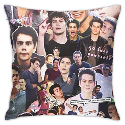 Dylan O Brien4 Super Soft Square Pillowcase - Funda de almohada (18 x 18 pulgadas)