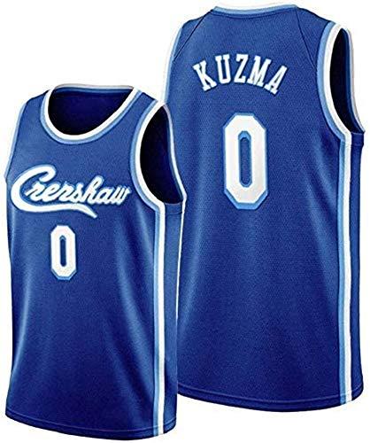 WSUN Lakers NBA # 0 Kyle Kuzma Camiseta De Baloncesto De La NBA para Hombre Camiseta Sin Mangas Unisex Camiseta Bordada De Malla De Baloncesto Swingman Jersey,A,S(165~170CM/50~65KG)