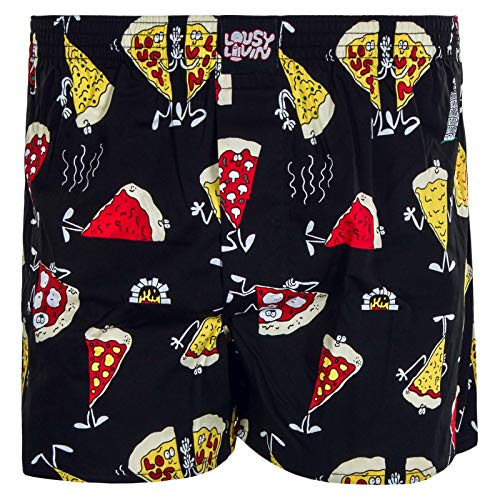 Lousy Livin Pizza Boxershorts Black Größe: XL Farbe: Black