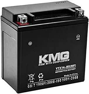 KMG Battery for Honda 350 TRX350 Rancher 2000-2006 YTX14-BS Sealed Maintenance Free Battery High Performance 12V SMF OEM Replacement Powersport Motorcycle ATV Scooter Snowmobile
