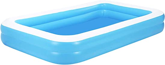 Aufblasbarer Pool Family Pool Deluxe, Kinderpool Planschbecken Schwimmbad Family Ocean Ball PoolPlanschbecken, PVC-Klappbarer langlebiger Swim Pool für Familie, Garten, Outdoor 155  108  46cm