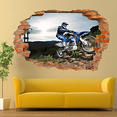 TRB muur Stickers OFFROAD MOTOCROSS YAMAHA 3D ART POSTERS ROOM OFFICE SHOP DECOR
