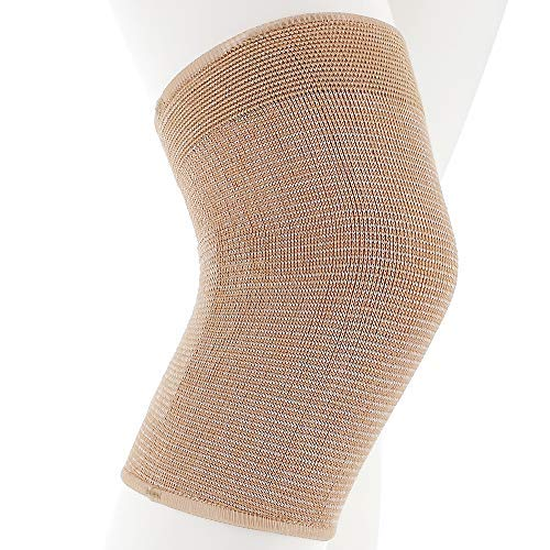 """Actifi I Firm Knee Support Sleeve – 8.25"""" Elastic Compression Pullover Brace"""