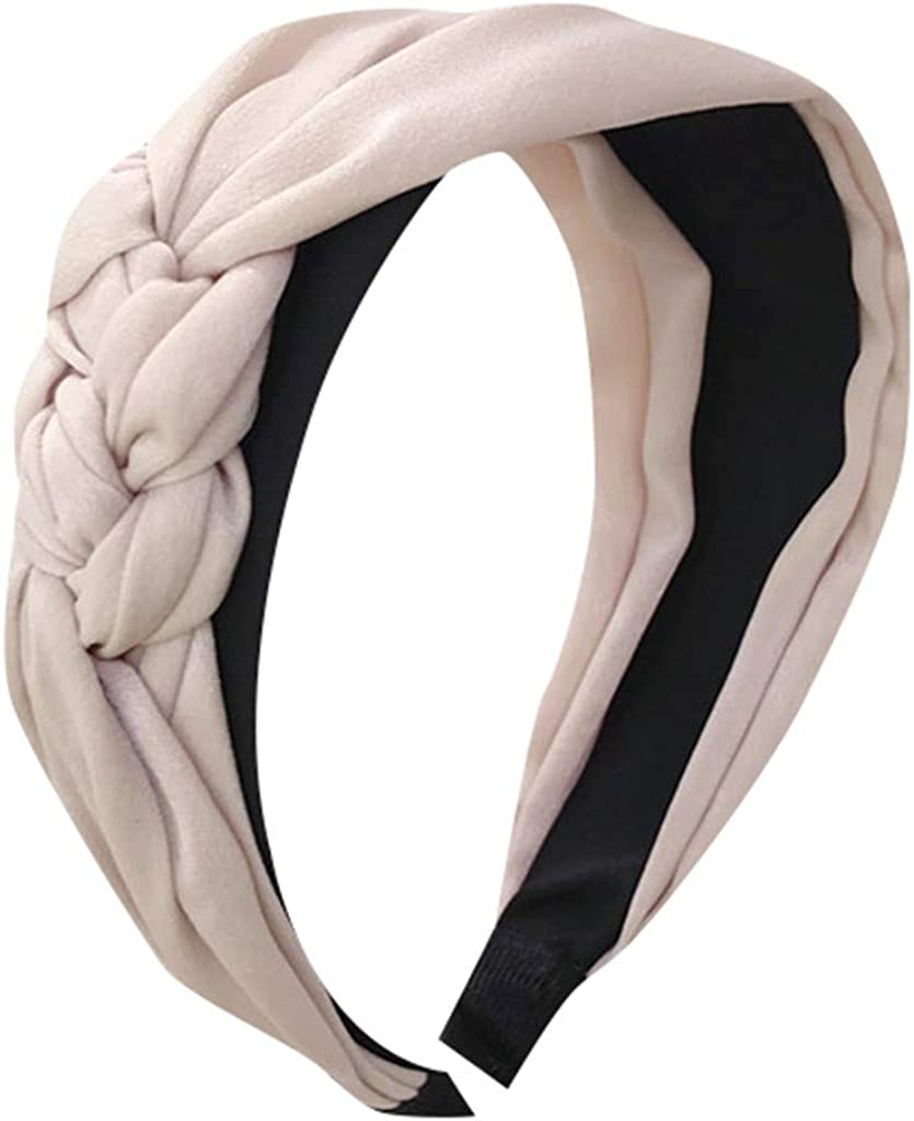 Arystk Women's Hairband Cute Twist Headband Top Knot Fashion Plain Headband