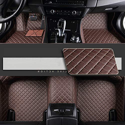 8X-SPEED Alfombrillas Coche de Cuero para For BMW Serie 4 F32 F33 F36 (4-Puertas)(Edición Confort) 2013-2018 Protección Alfombras de Cobertura Completa Antideslizante Moqueta Coffee Colour