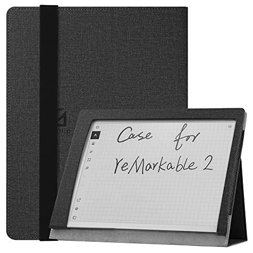 """Custodia per reMarkable 2 Paper Tablet da 10,3 """" Uscita 2020, Custodia Folio Smart Cover in Pelle PU Sottile e Leggera con Supporto per reMarkable 2 Digital Paper 2020 - Nero"""