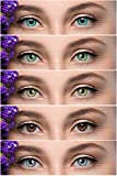 Soft Eye Combo Pack of 5 Pair Monthly Colored Contact Lens Zero Power