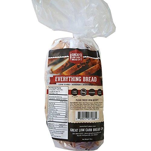 Original Low Carb Bread by GLCB, 1 Sandwich Loaf (Everything Bread)