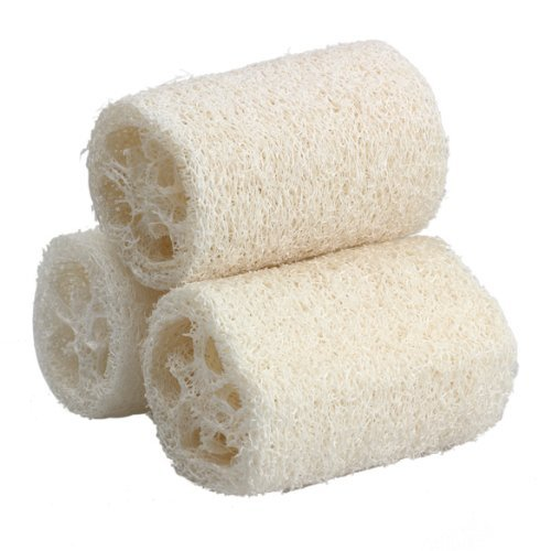 SODIAL(R)3PCS Naturel Luffa Douche eponge Scrubber (Large)