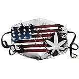 Maschere per la bocca unisex Bandiera americana Foglia d'acero Banner Anti polvere Anti inquinamento Poliestere Maschera per il viso Riutilizzabile