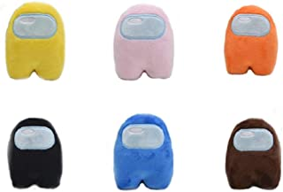 Set of 6 Crewmate Among Us Plush Toys for Kids Cute Colors Soft Stuffed Playful with Squeaking Sound That Kids Love