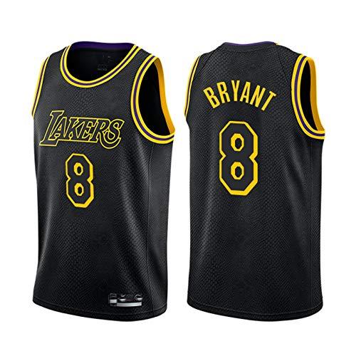 THGY # 8 Kobe Bean Bryant Menalla de Malla de Malla Jersey, Lakers Transpirable sin Mangas de Baloncesto Swingman Jersey Adulto Entrenamiento de Adultos Desgaste de la li Black-M