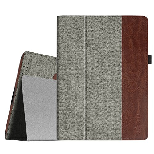 Fintie Apple iPad Mini 1/2 / 3 Hülle - Slim Fit Foilo Stoff Schutzhülle Tasche Etui Case Cover mit Auto Schlaf/Wach, Standfunktion für iPad Mini 3/2 / 1, Denim grau